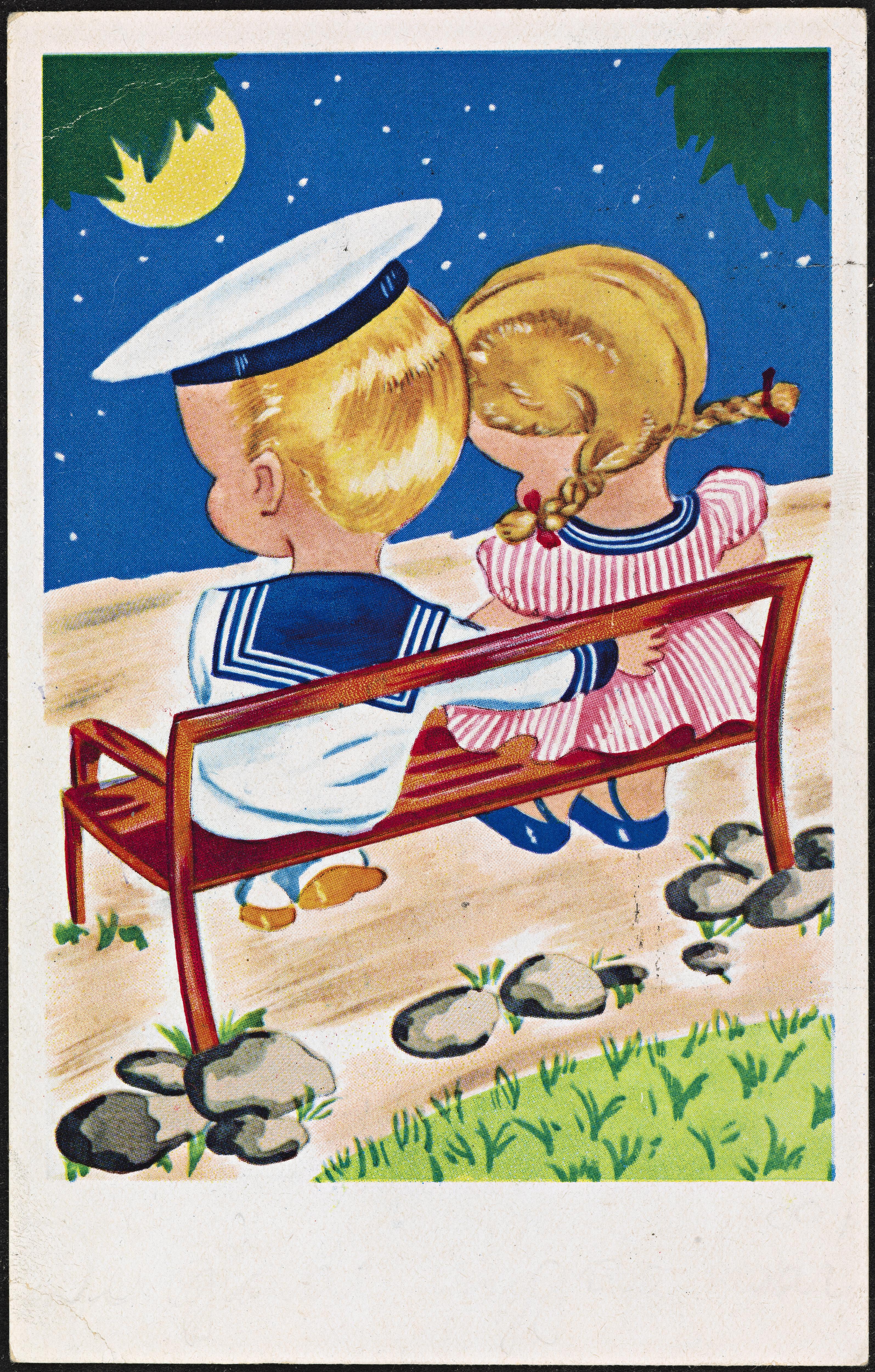 Dette søte, romantiske bildet er fra 1919, og er delt av Nasjonalbiblioteket.