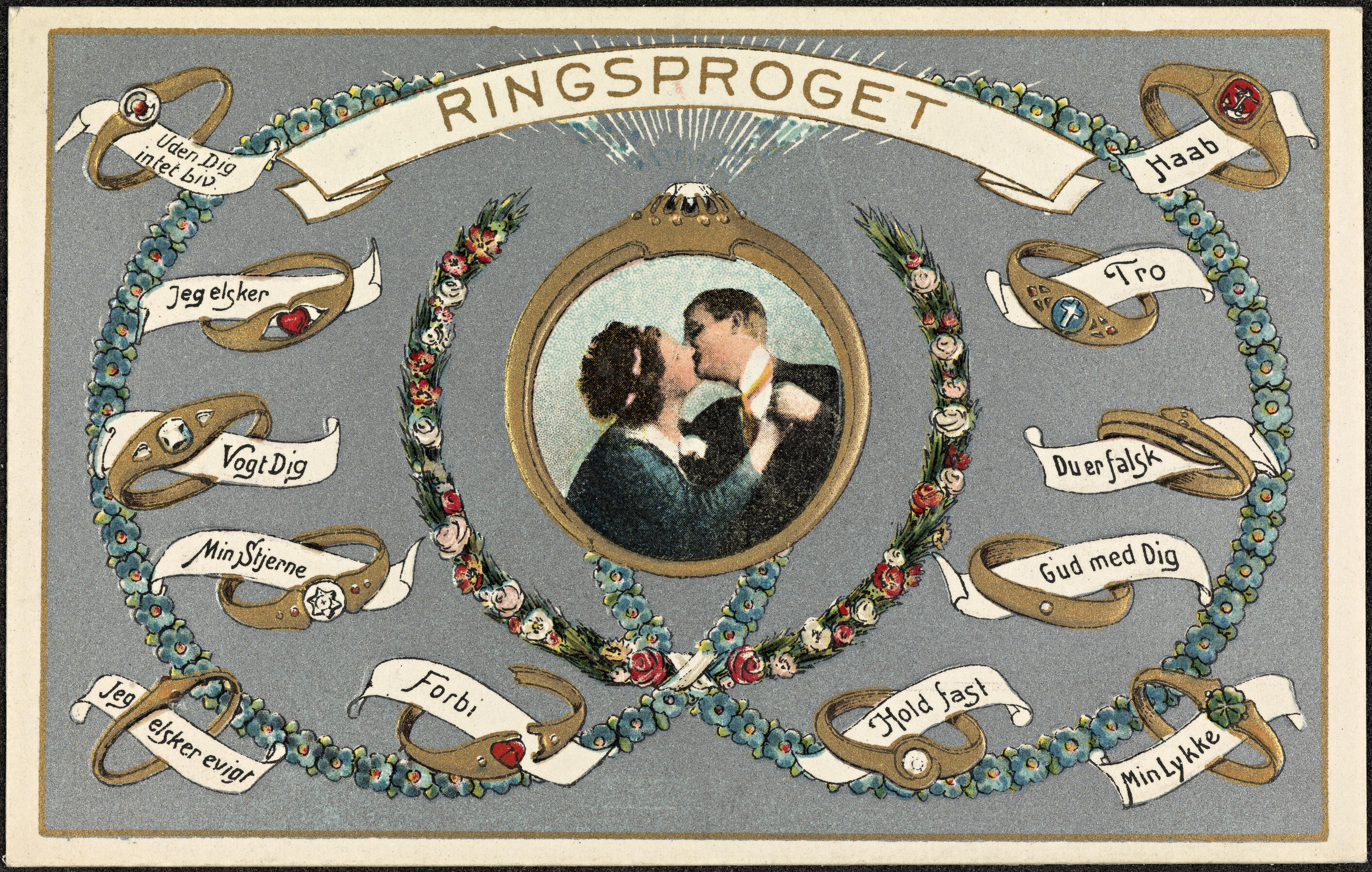 Nasjonalbiblioteket har også delt dette søte postkortet fra samme serie, og anslår at det er fra ca. 1920.