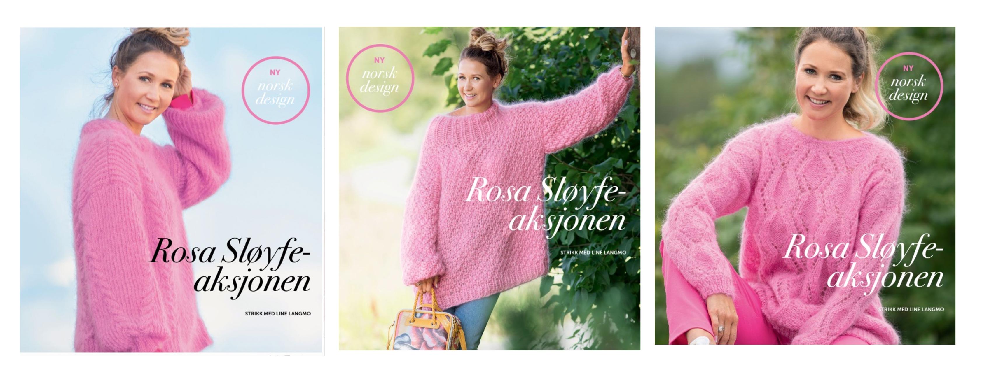 Strikk rosa i oktober! (Rosa sløyfe) Søstrene Miljeteig