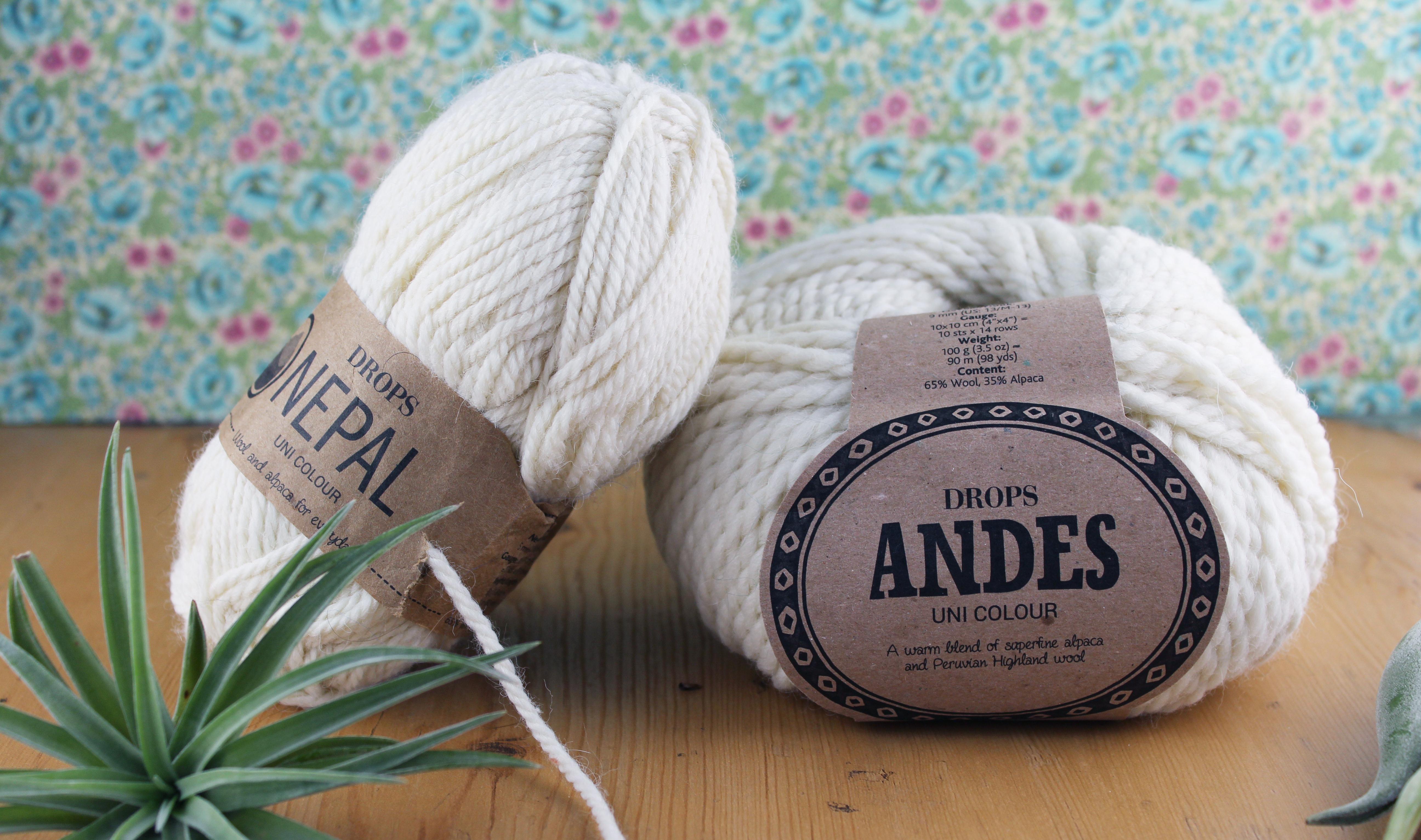 1a3af6e0 Andes og Nepal er to ullgarn som er enkle å strikke med, og som gir godt  resultat