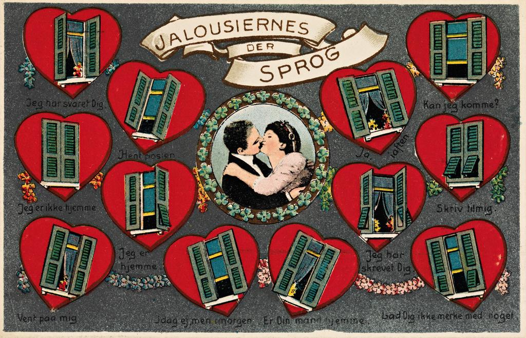 Nasjonalbiblioteket har delt dette søte postkortet, og anslår at det er fra ca. 1920.