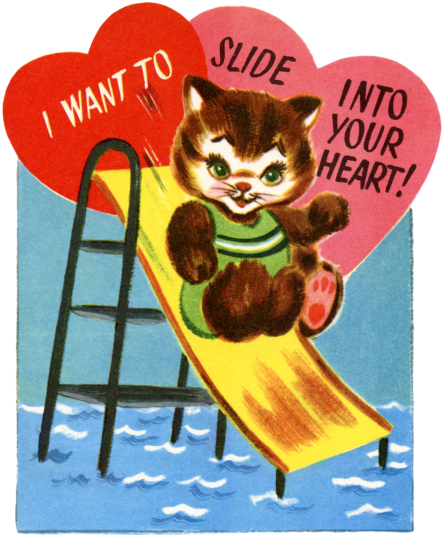 The Graphics Fairy har delt mange søte Valentinsbilder, og denne søte katten er en av våre favoritter.