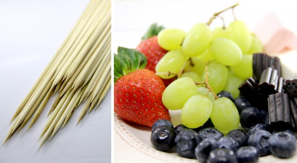 ingredienser til fruktspyd